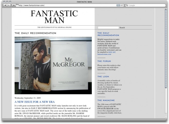 Fantastic Man: The Gentlemen's Style Journal Online