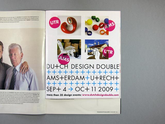 Dutch Design Double programme magazine insert