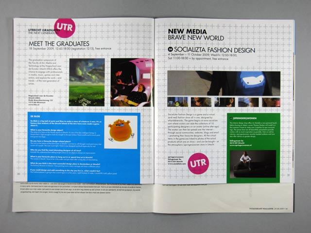 Dutch Design Double programme magazine insert spread