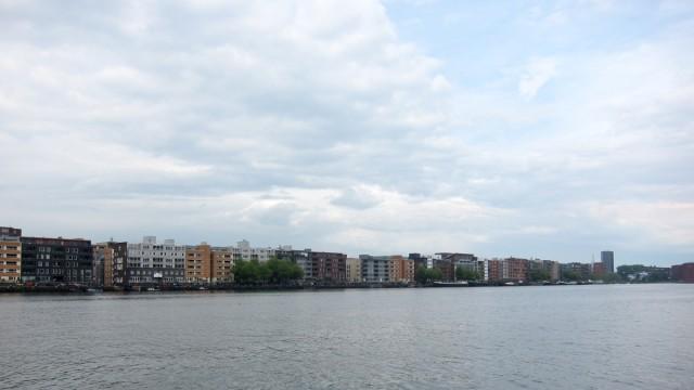 view from pakhuis de zwijger across the water