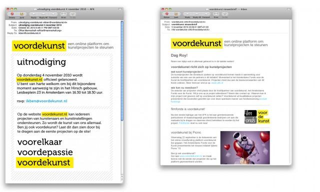 voordekunst email templates