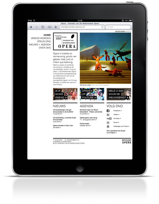 vrienden van de nederlandse opera on the iPad