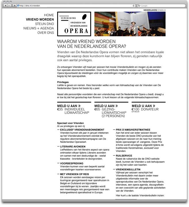 vriend worden page on the vrienden van de nederlandse opera website