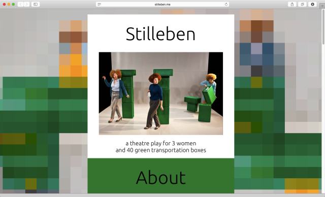 Stilleben - a theatre play for 3 women and 40 green transportation boxes